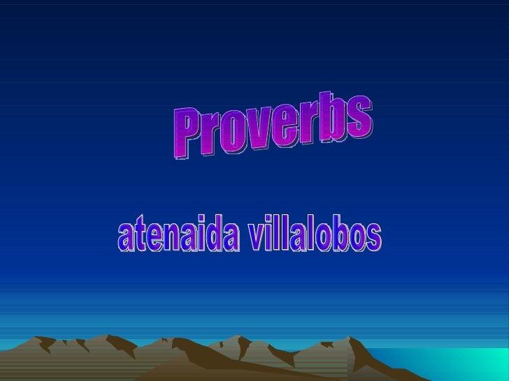 Proverbs atenaida villalobos