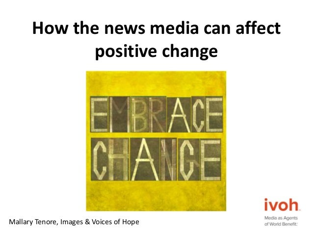 how to affect positive change in a community