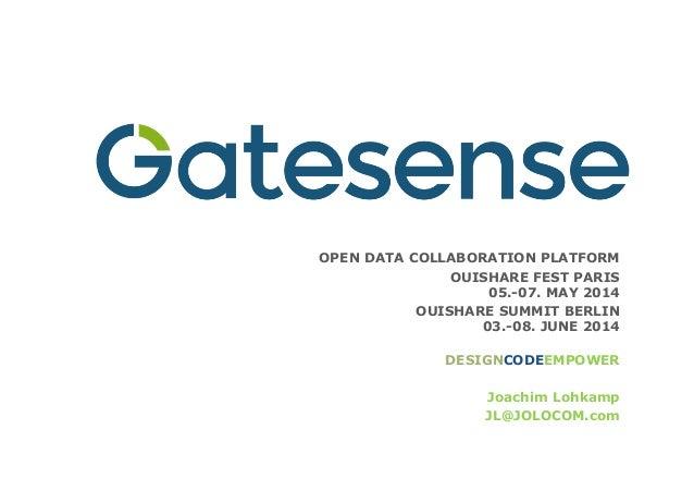 OPEN DATA COLLABORATION PLATFORM OUISHARE FEST PARIS  05.-07. MAY 2014 OUISHARE SUMMIT BERLIN  03.-08. JUNE 2014  DESIG...
