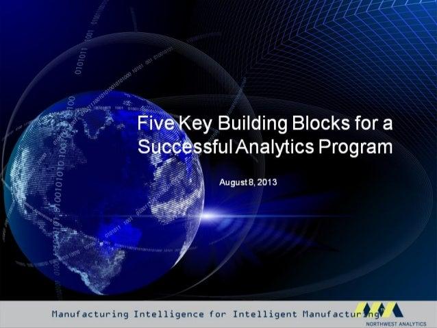 5 Key Building Blocks for a Successful Analytics Program