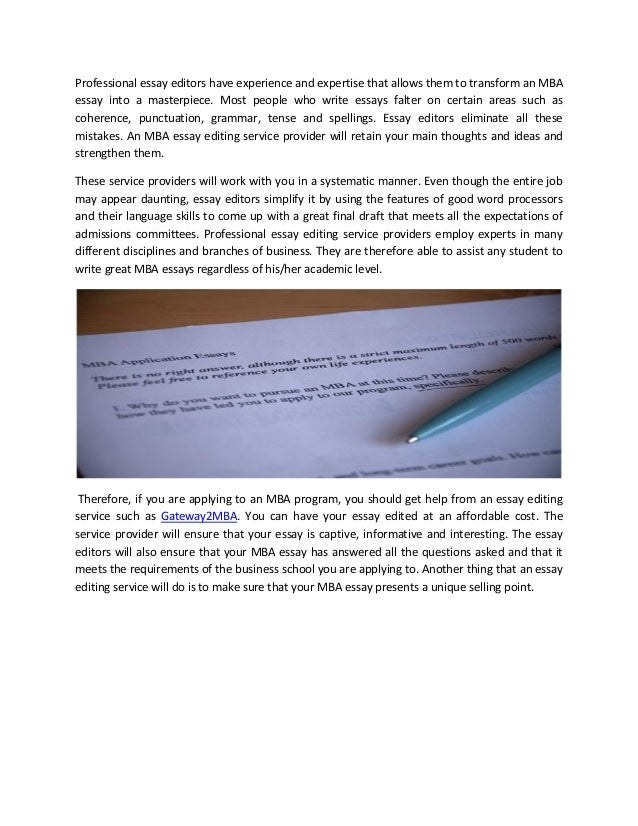 Best mba essay editing service