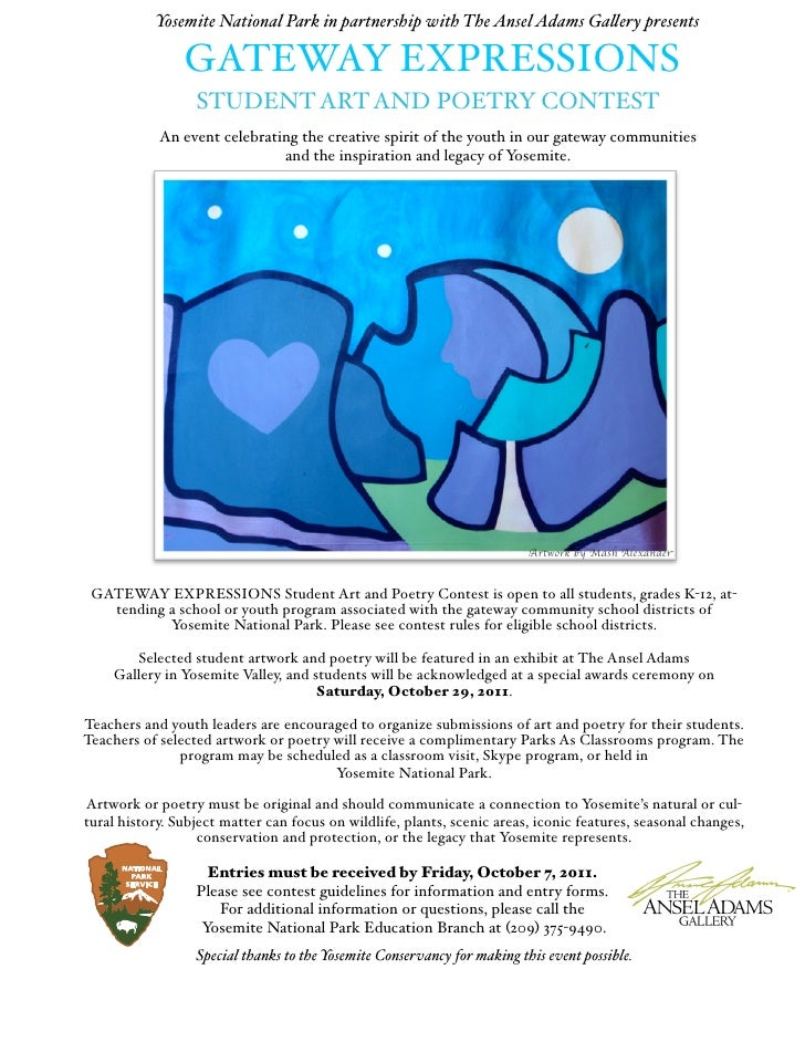 Yosemite National Park in partnership with The Ansel Adams Ga!ery presents                GATEWAY EXPRESSIONS             ...