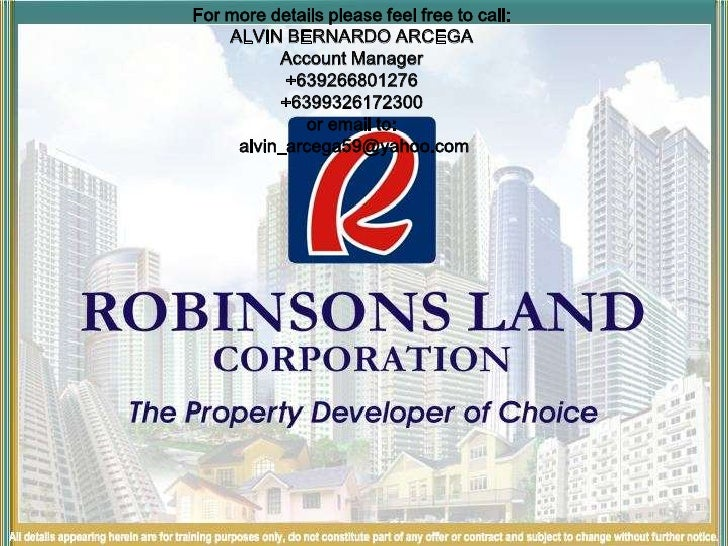 For more details please feel free to call:<br />ALVIN BERNARDO ARCEGA<br />Account Manager<br />+639266801276<br />+639932...