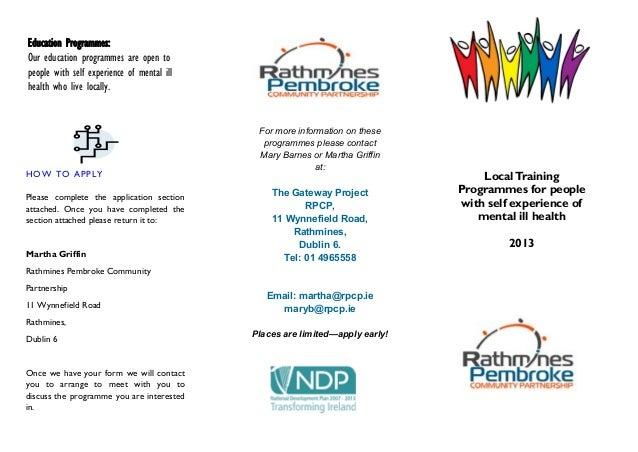 Gateway training  leaflet 2013