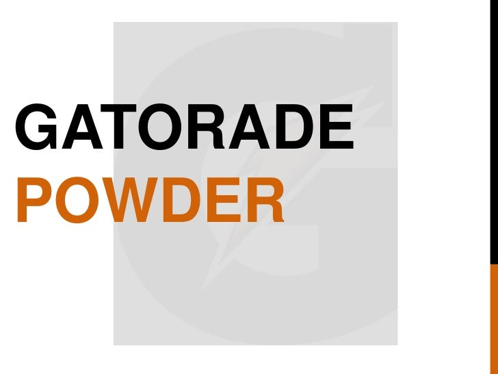 GATORADE<br />POWDER<br />