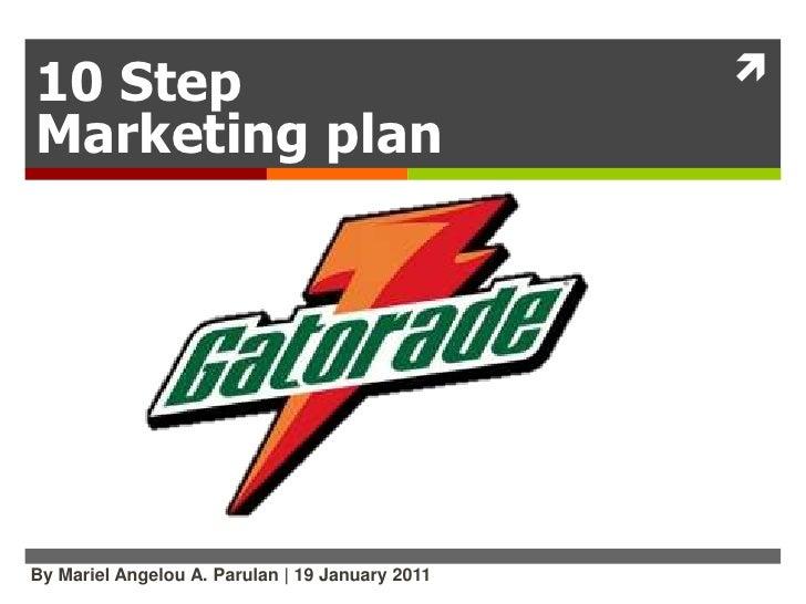 Print ad product marketing plan-Gatorade