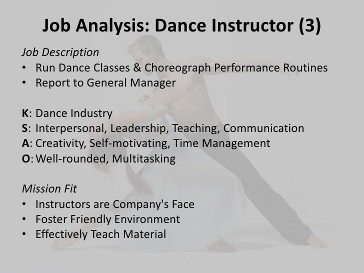 Dance Instructor Job Description Professional Compensation Project Slideshow