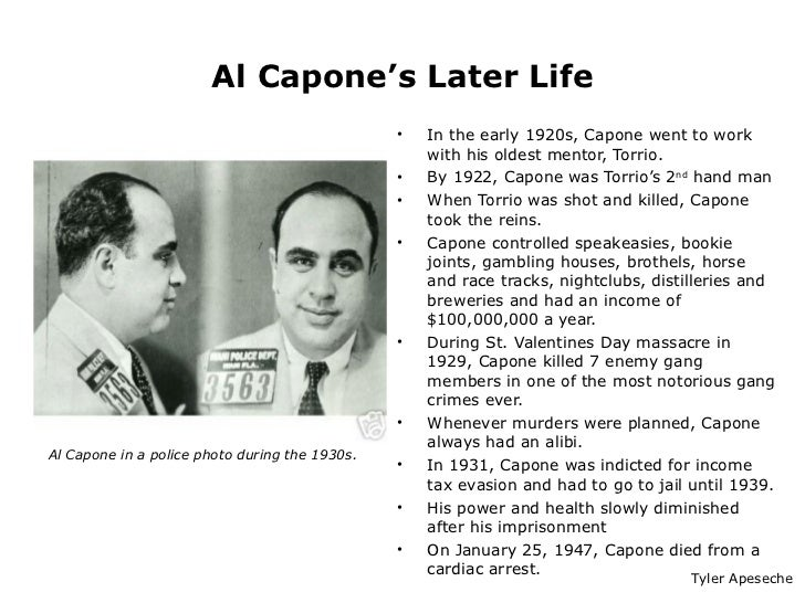 the early life and times of al capone Al capone by sammysaunders05 | updated: sept 4, 2015,  like us on facebook or follow us on twitter to get awesome powtoon hacks,.
