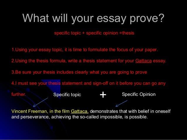GATTACA-Essay, how do i write an intro?