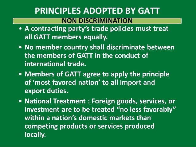 similarities differences of wto gatt Free essay: the good, the bad, the wto on may 19,1948, the general agreement on tariffs and trade or gatt was created this was not an international.