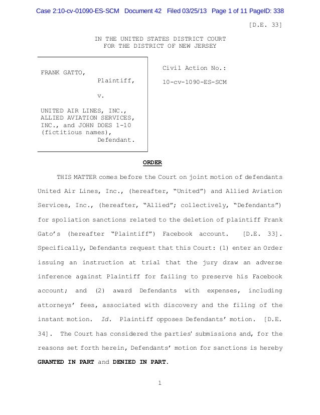 Case 2:10-cv-01090-ES-SCM Document 42 Filed 03/25/13 Page 1 of 11 PageID: 338                                             ...