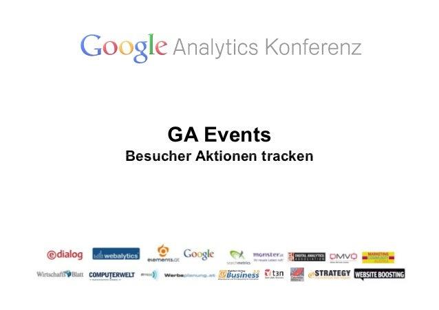 GA EventsBesucher Aktionen tracken