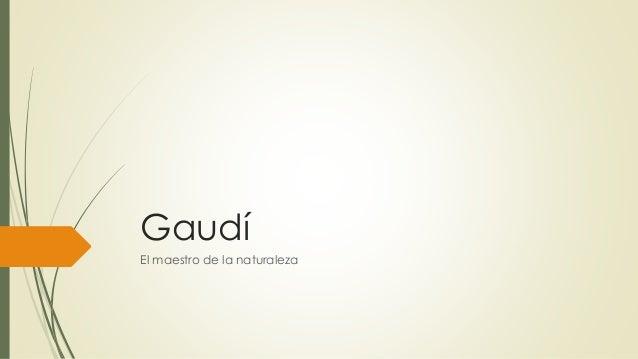 Gaudí El maestro de la naturaleza