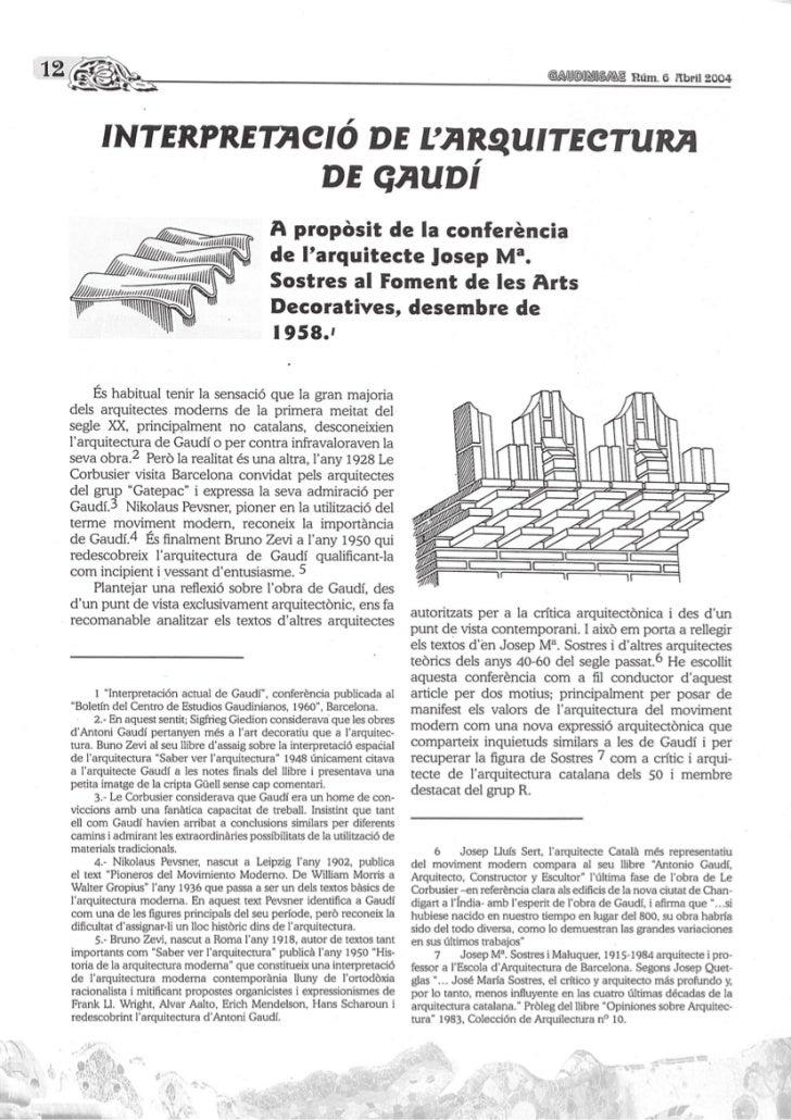 Interpretació de l'arquitectura de Gaudí