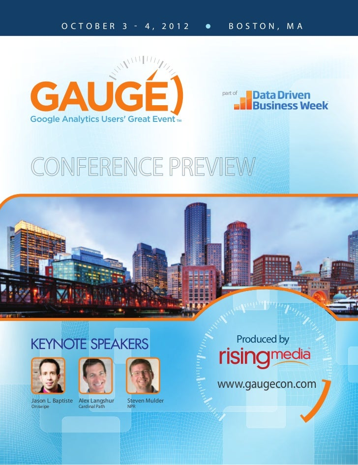 GAUGECon 2012 Boston Conference Preview