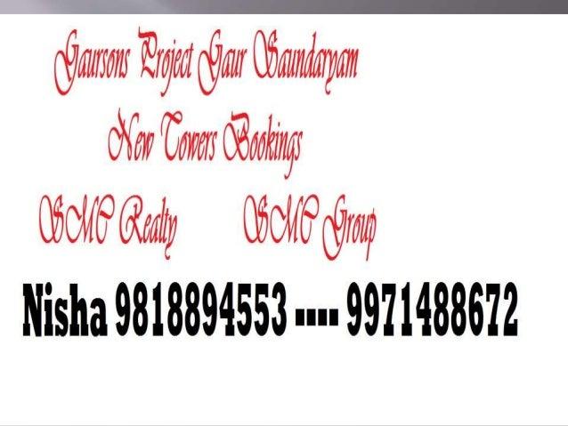 Nisha 9971488672 New Towers Gaur Saundaryam Price  Noida Extension