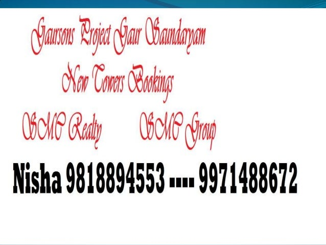 9818894553 Gaur Saundaryam Brochure  Noida Extension New Towers