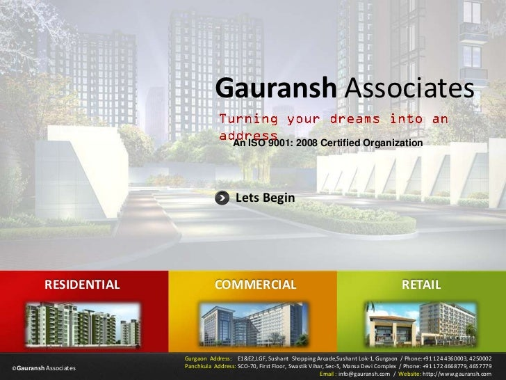 Gauransh Associates                                         An ISO 9001: 2008 Certified Organization                      ...