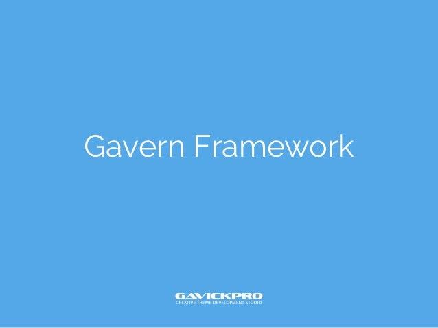 Gavern Framework - Joomla! Day Poland 2013