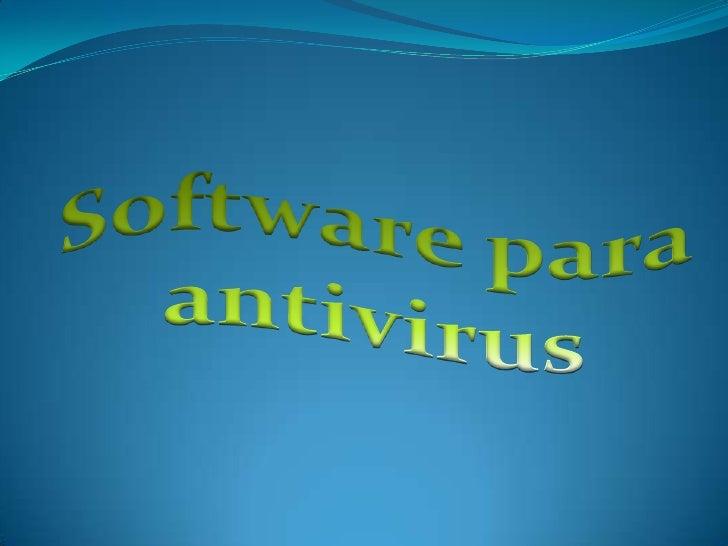 Software para antivirus<br />