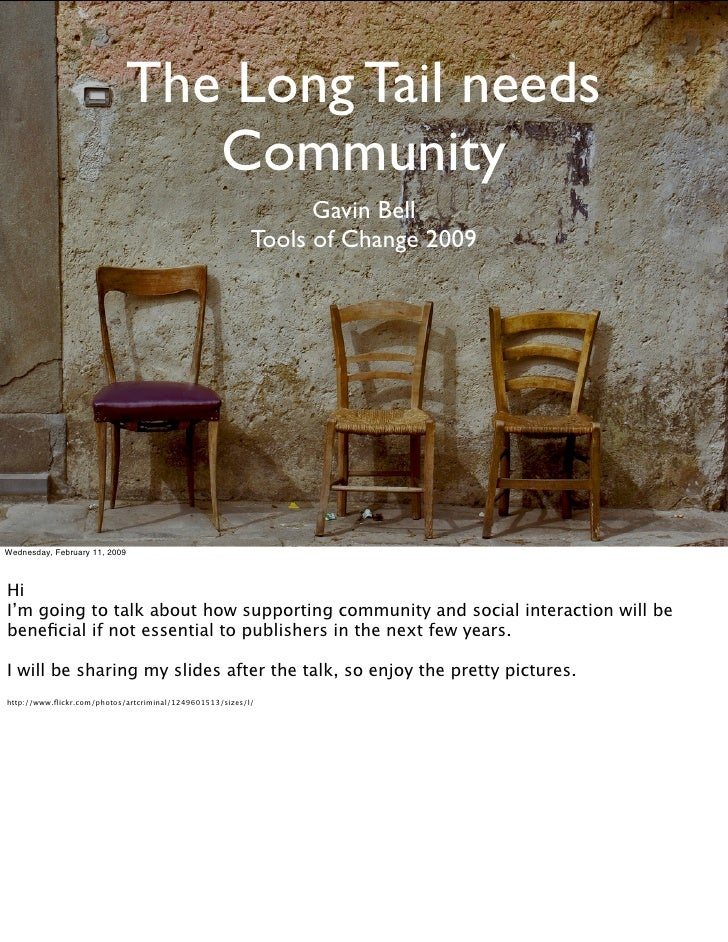 Gavin Bell Toc09 Long Tail Needs Community Sm