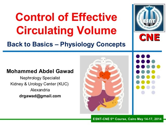 CNECNE ESNT-CNE 5th Course, Cairo May 14-17, 2014 CNECNE Control of Effective Circulating Volumer g Back to Basics – Physi...