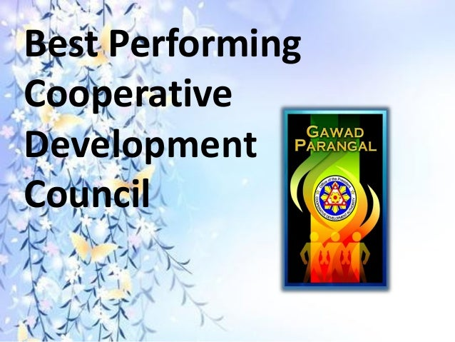 Best Performing Cooperative Development Council