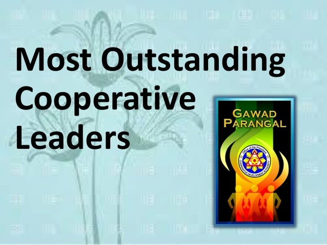 Most Outstanding Cooperative Leaders