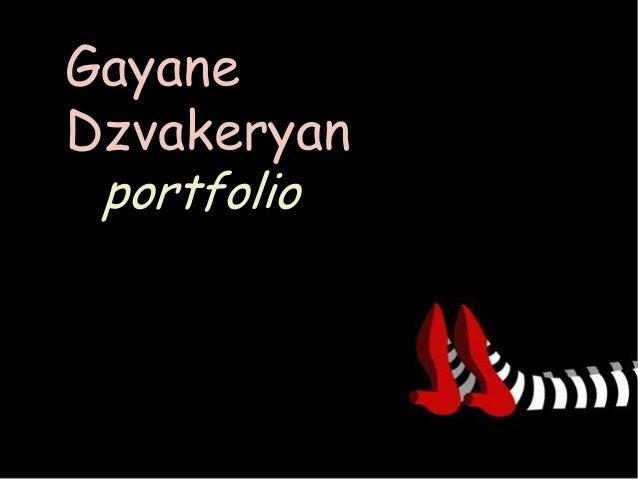 Gayane Dzvakeryan portfolio