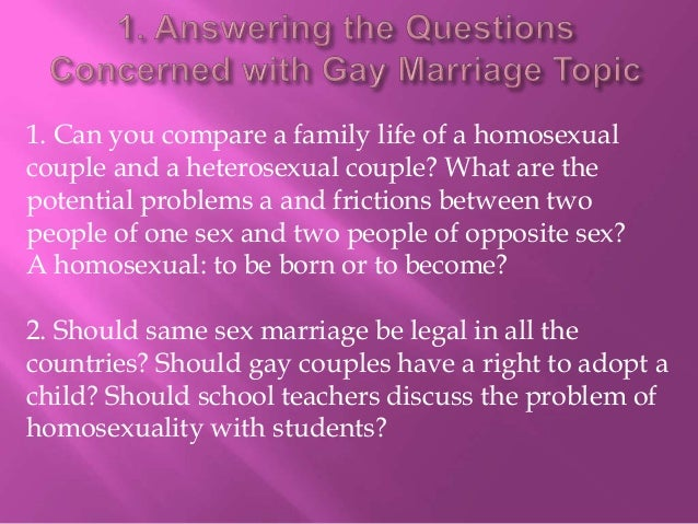 Why gay marriage is right