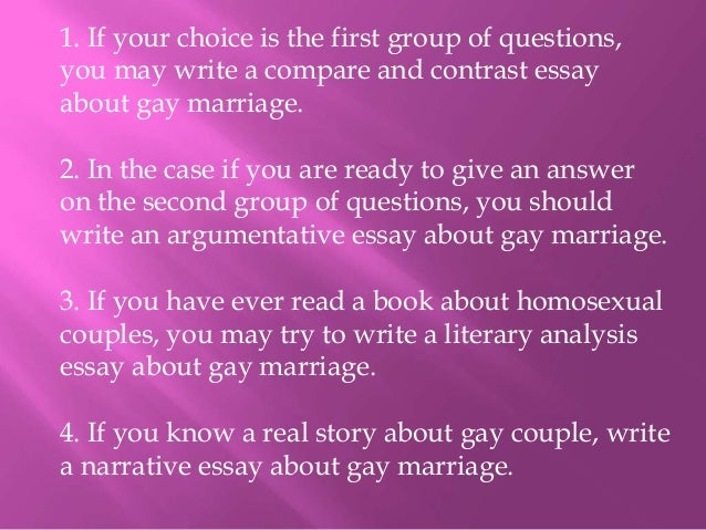 gay marriage essay yahoo This essay has been submitted by a law student this is not an example of the work written by our professional essay writers what are the reasons for and against gay marriage.