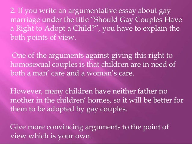 an essay about gay marriage Read story pro gay marriage essay by kuryenenburysevern (jordayyniseffinamazing) with 8,467 readsis it our right to deny a right you could ask anyone and sev.