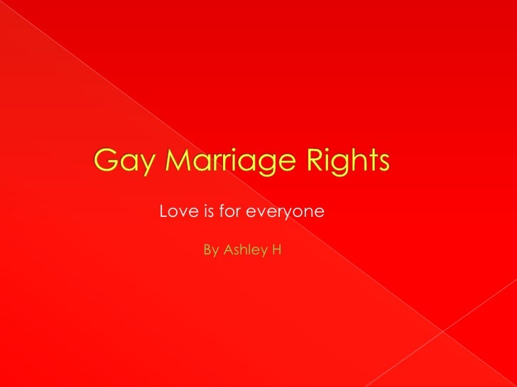 Gay Marriage Rights