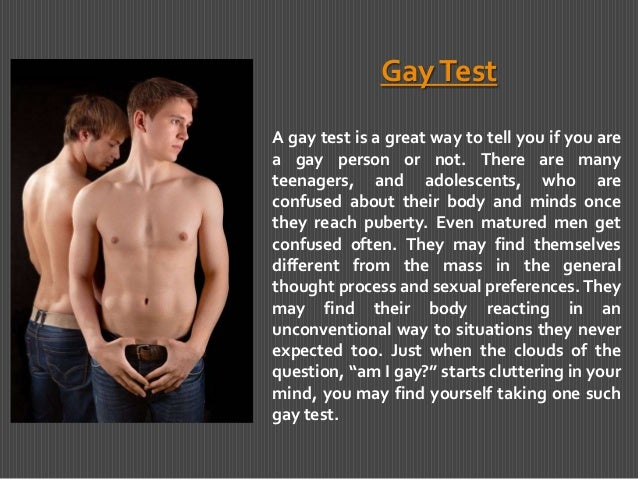 from Axl you are gay test