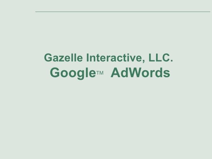 Gazelle Interactive Adwords Presentation