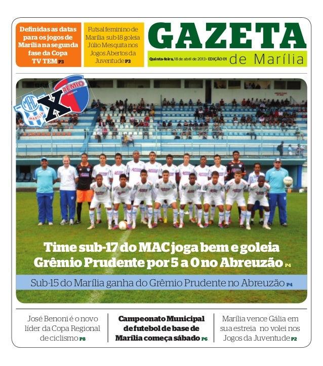 Definidas as dataspara os jogos deMarília na segundafase da CopaTV TEM P3FutsalfemininodeMarília sub-18goleiaJúlioMesquita...