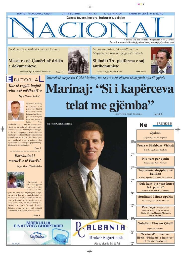 Gazeta nacional nr. botimi 63