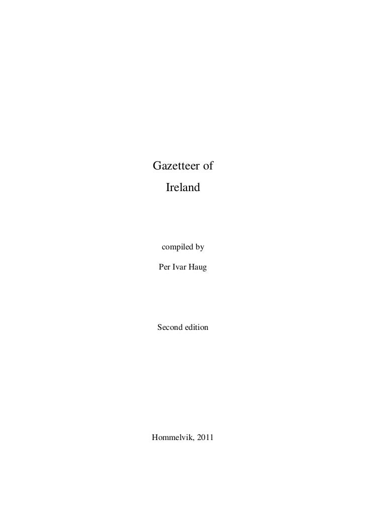 Gazetteer of ireland
