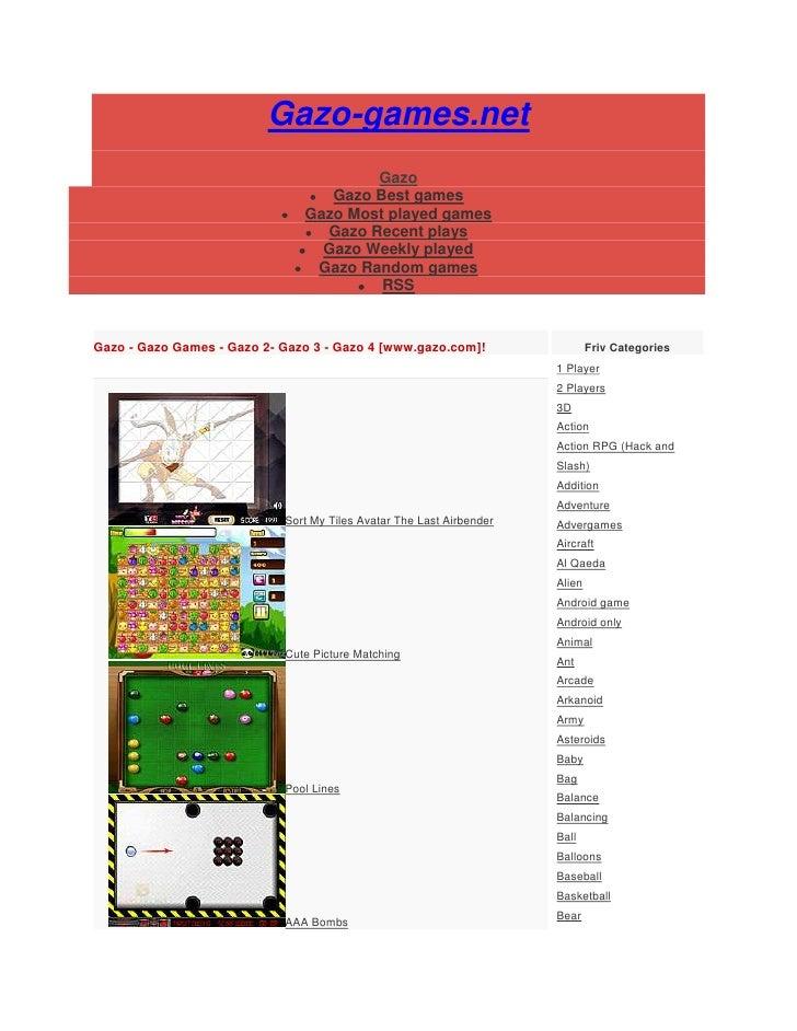 Gazo-games.net                                       Gazo                                  Gazo Best games                ...