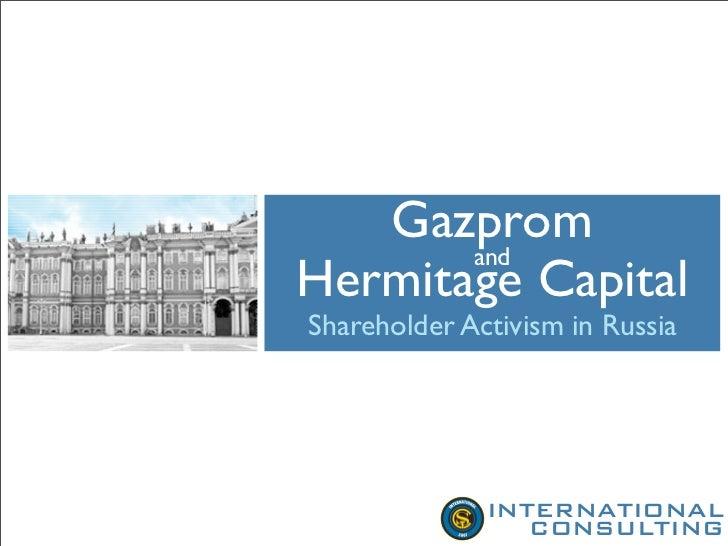 Gazprom And Hermitage