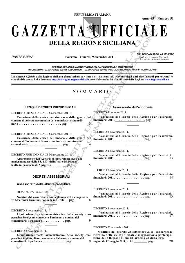 Gazz uff reg_siciliana_n_51_9_12_2011_estratto