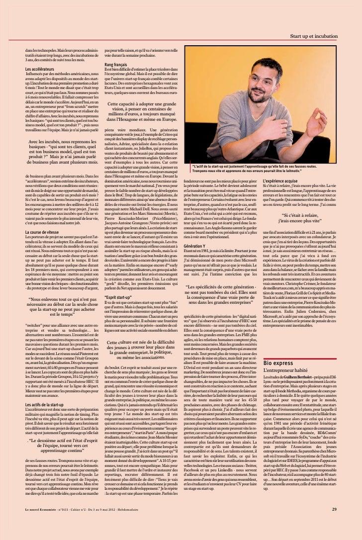 Guilhem Bertholet - Interview du 3 mai 2012 - Partie 2 - Le Nouvel Economiste