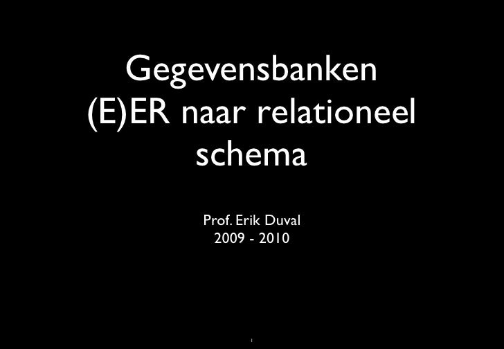 Mapping EER to Relational Model
