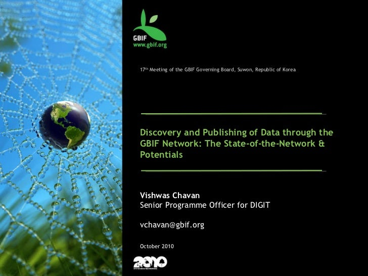 2010: Simplified Data Publishing Solutions  Darwin Core Archives for taxonomic and primary biodiversity data 17 th  Meetin...