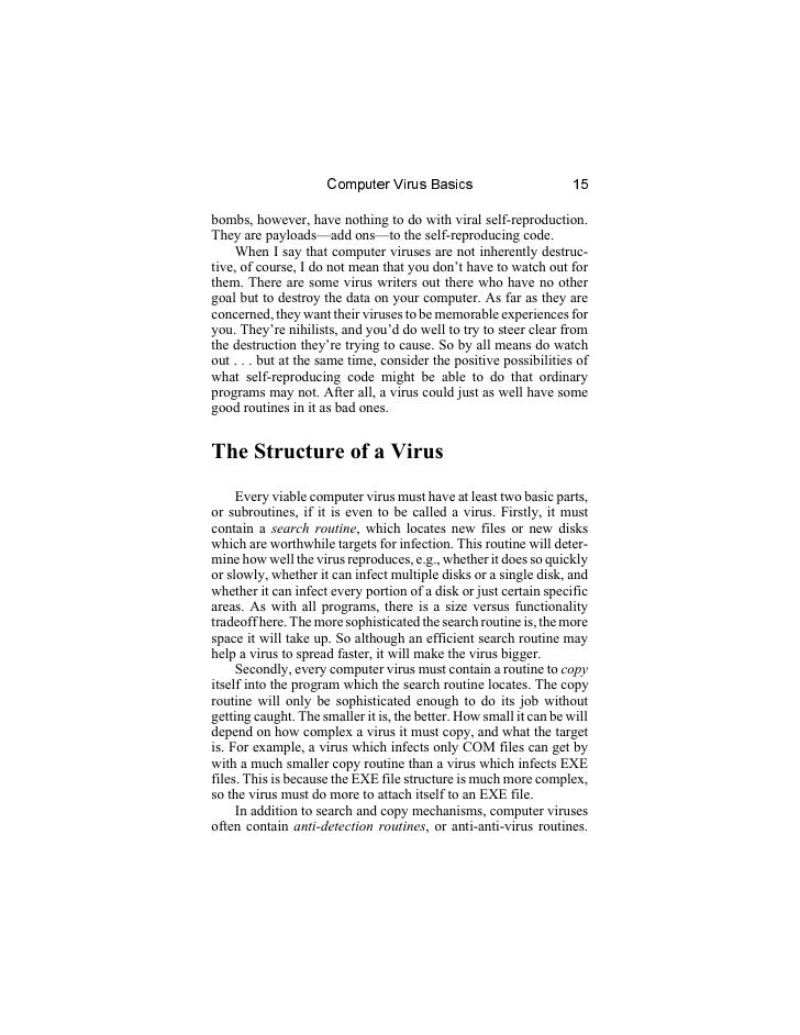 thesis of computer viruses There has been considerable interest in computer viruses since they appeared  firstly, computer viruses make software developers pay more attention to.
