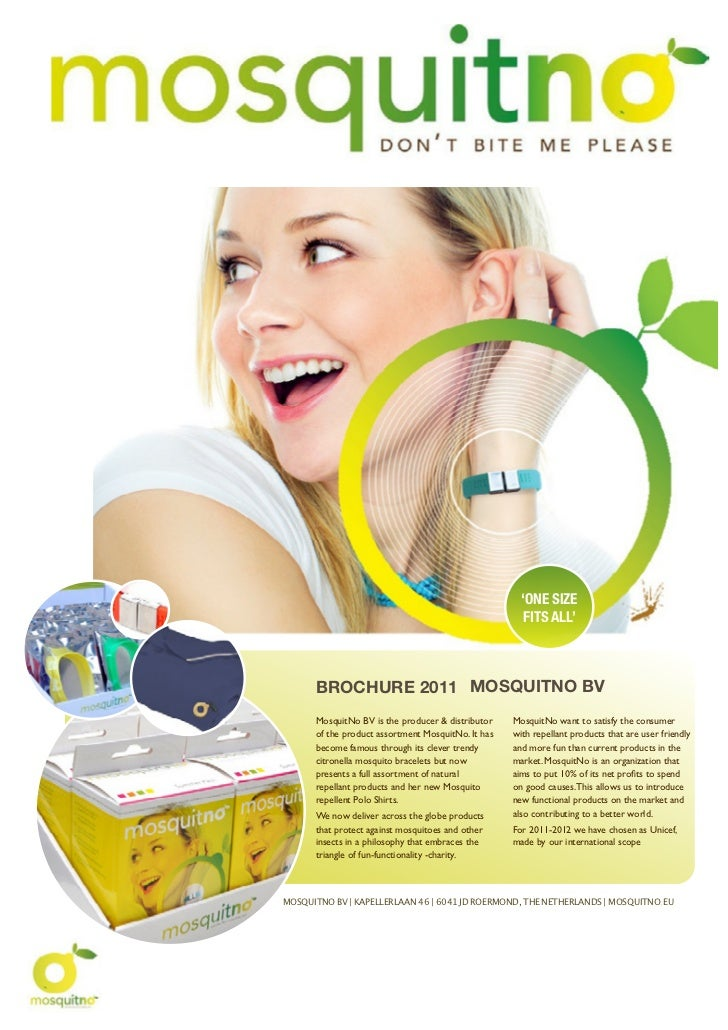 'ONE SlZE                                                       FITS ALL'      BROCHURE 2011 MOSQUITNO BV      MosquitNo B...