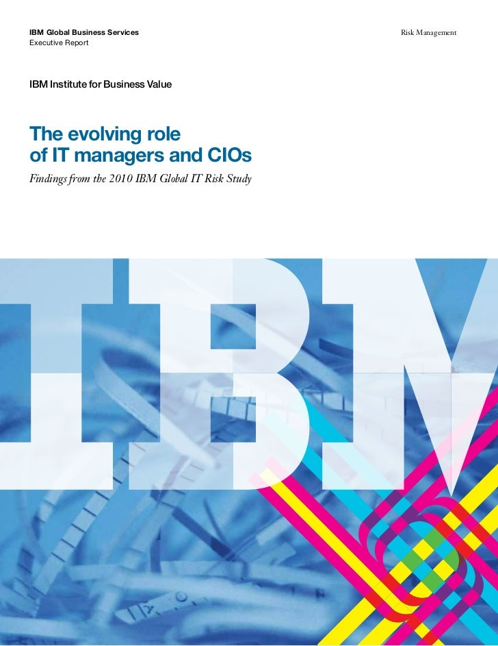 The evolving role of IT managers and CIOs
