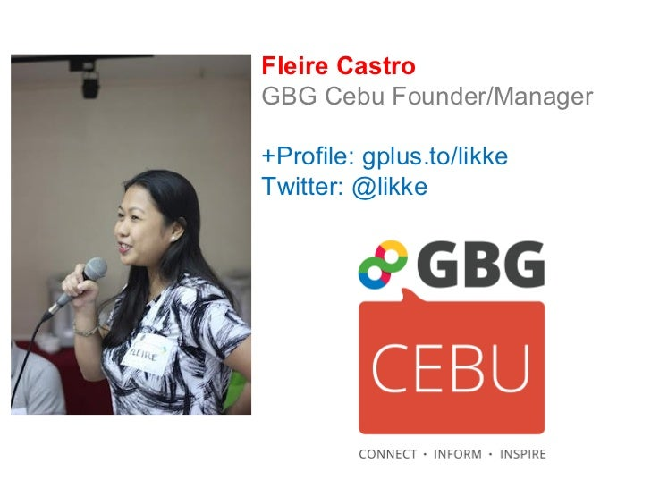 Connect! GBG Cebu Presentation for gPhilippines 2012