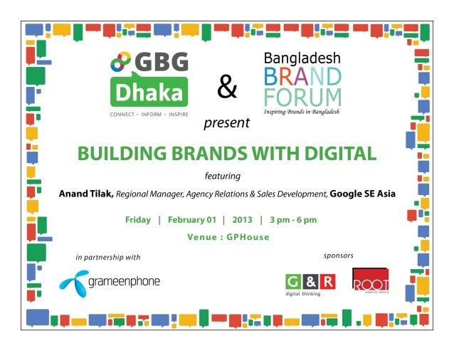 "GBG Dhaka - ""Building Brands with Digital"""
