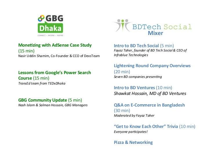 Presentations from GBG Dhaka & BD Tech Social Event